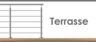 Poteau inox pour Garde-corps inox prêt à poser sur terrasse