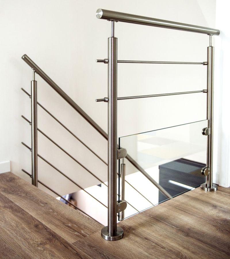 Garde-corps inox pour escalier