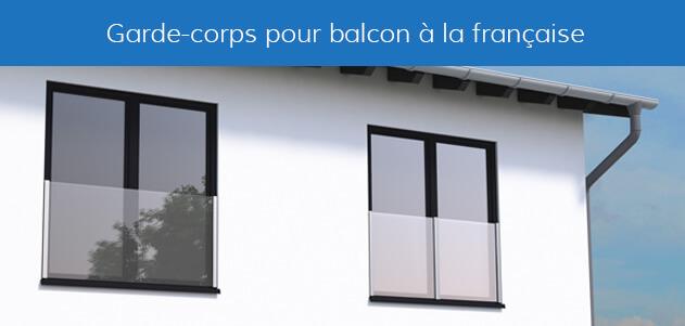 garde-corps verre balcon à la française