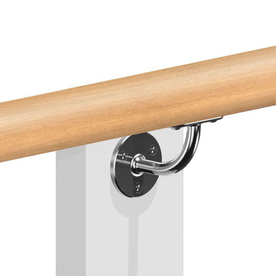 Kit main courante bois - hêtre brut - interieur