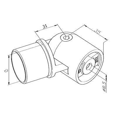 Adaptateur orientable plat/tube