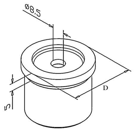 Adaptateur plat/tube rond Poli miroir