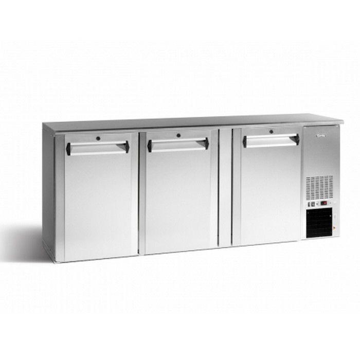 Arrière bar réfrigéré 3 portes pleines 505 L