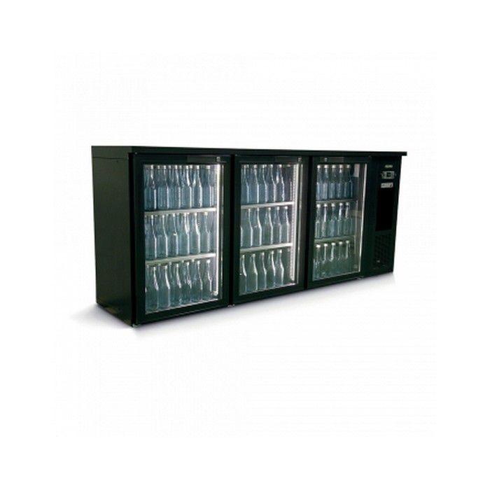Arrière bar réfrigéré 3 portes vitrées 505 L