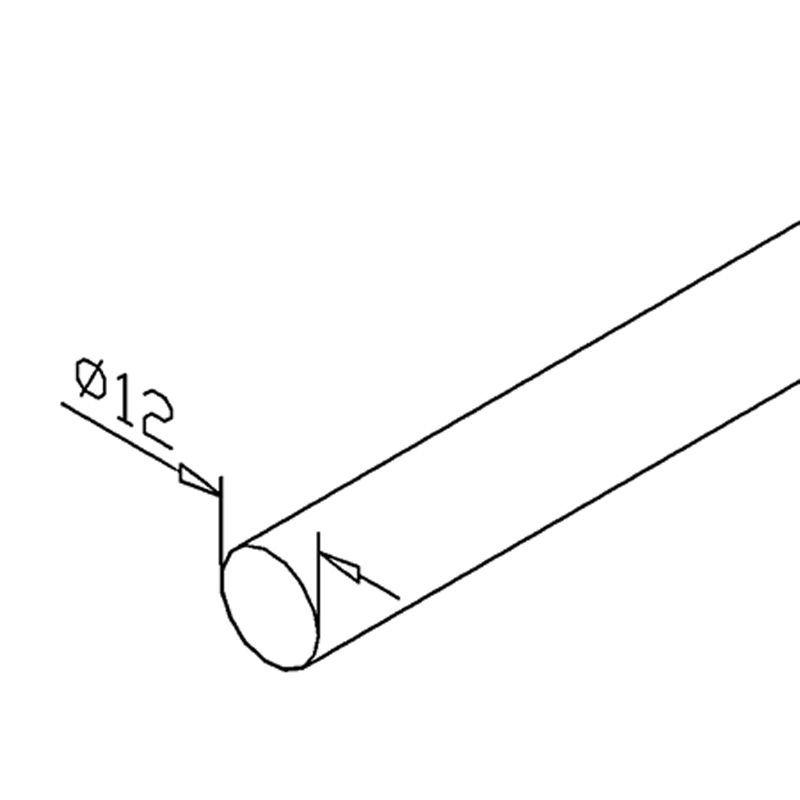 BARRE Ø12 mm - INOX 316 POLI MIROIR
