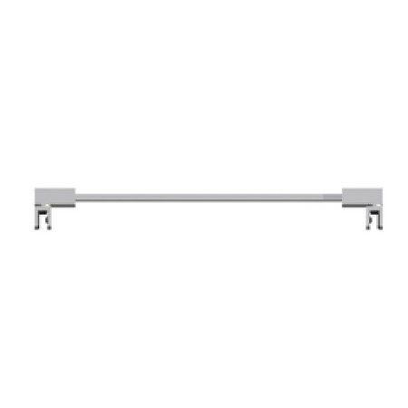Barre stabilisatrice carré - Fixation entre verre 90° - angle ajustable