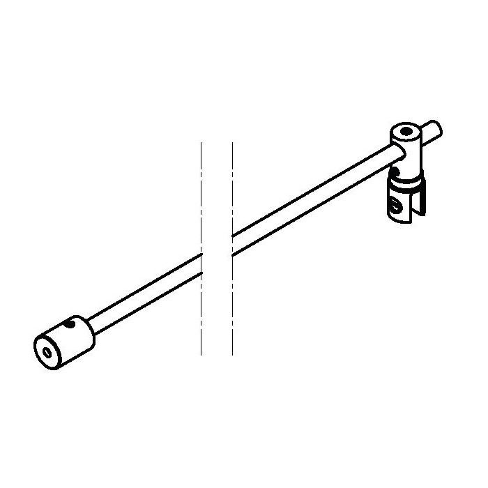 Barre stabilisatrice ronde - Fixation murale à 90° - angle ajustable