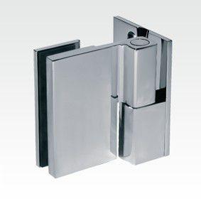 Charnière à relèvement verre/mur 90° - Fixation extérieure - Ouverture droite tirant
