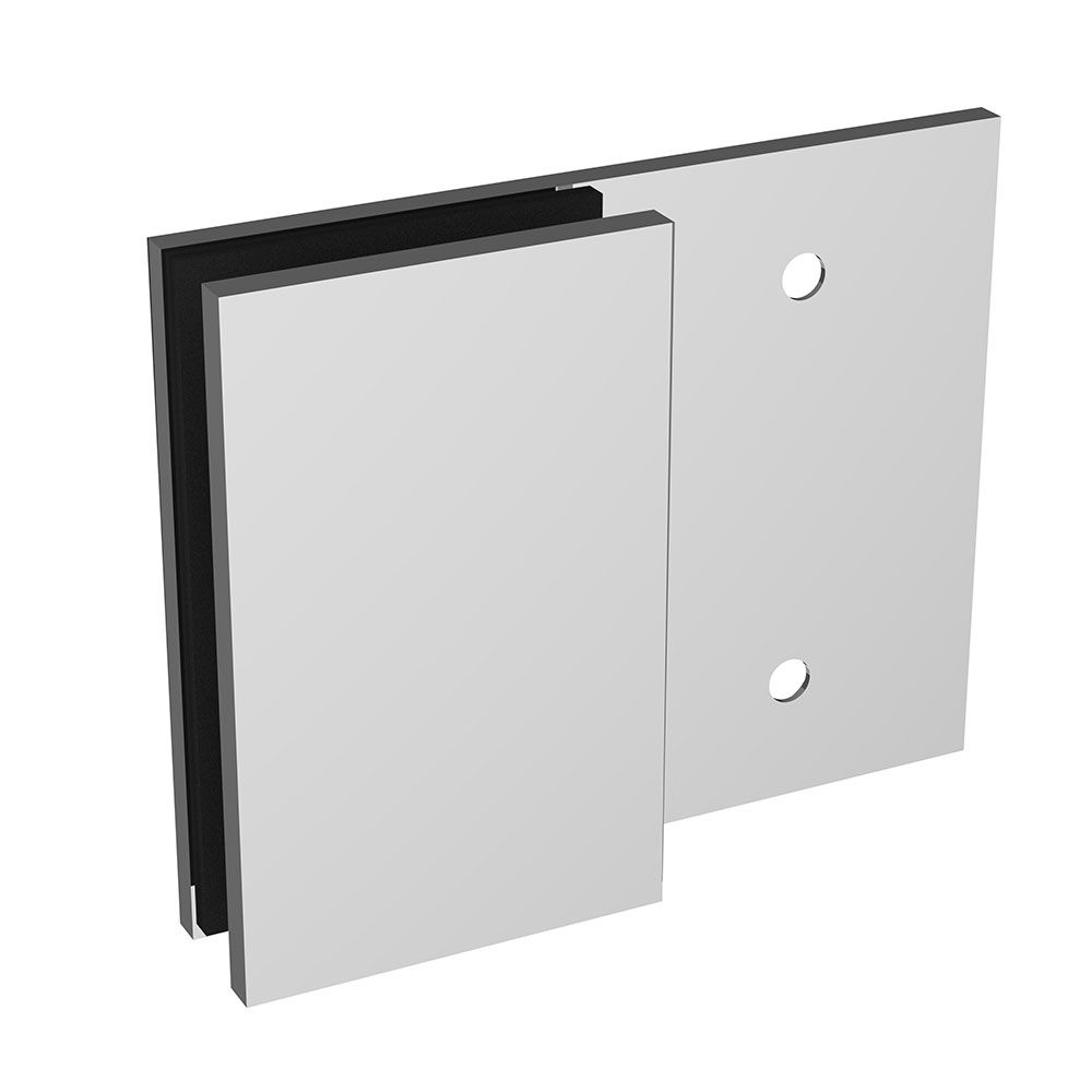 Connecteur verre/mur 180°