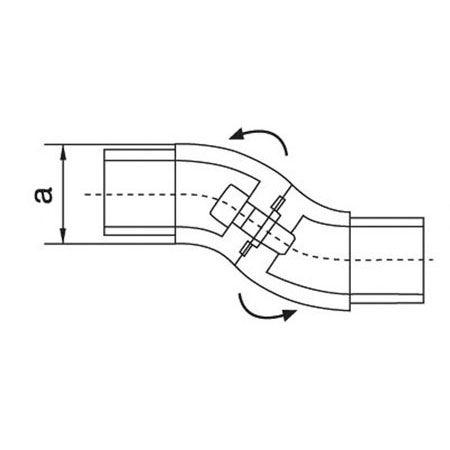 Coude réglable Ø42,4 mm