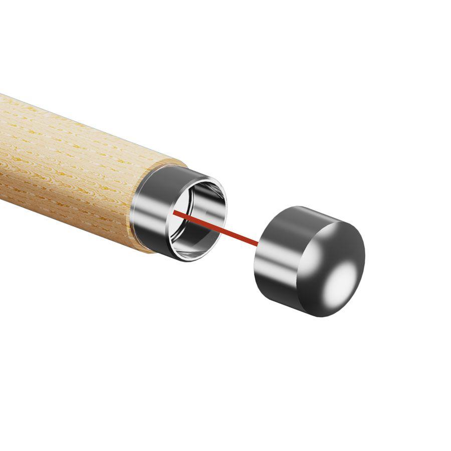 Embout inox arrondi pour main courante bois