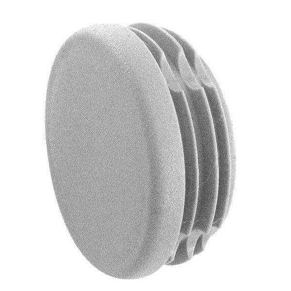 Embout plat à frapper - PVC gris