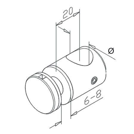 Entretoise Ø12 - 16 pour verre pour tube
