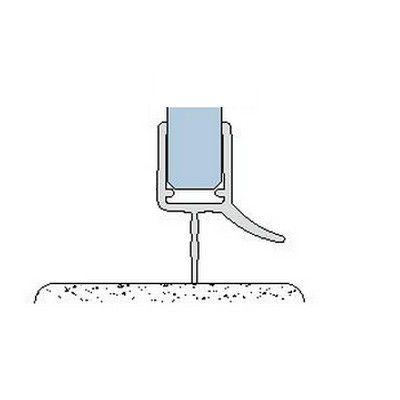 Joint à lèvre de seuil - Longueur 2010 mm - Ep. verre 6 - 8 mm