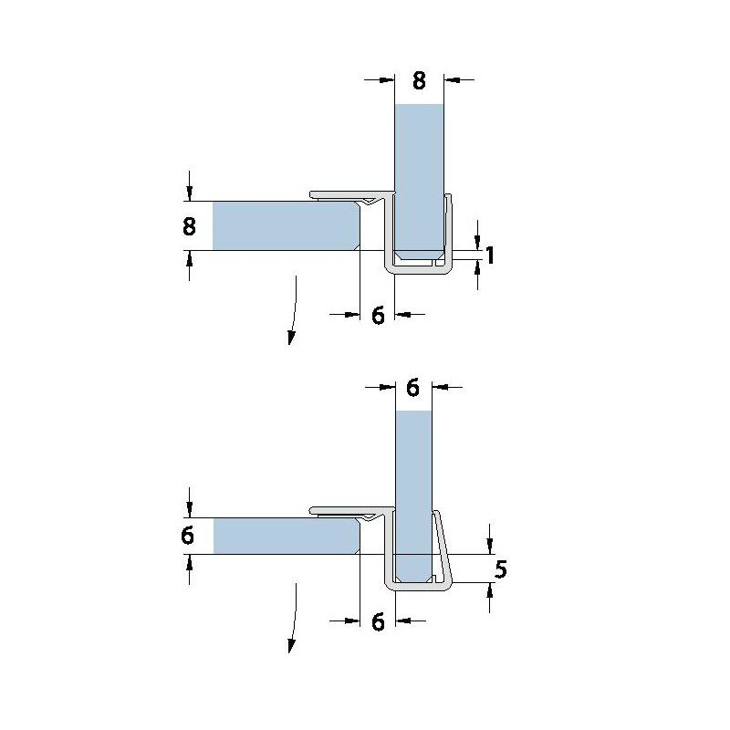 joint d 39 tanch it 90 but e en u longueur 2010 2500 mm ep verre 6 8 mm. Black Bedroom Furniture Sets. Home Design Ideas