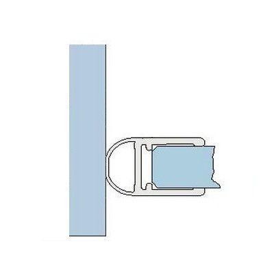Joint d\'étanchéité 90° - Longueur 2010/2500 mm - Ep. verre 6 - 8 mm