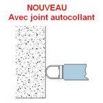 Joint d\'étanchéité 90° autocollant - Longueur 2500 mm - Ep. verre 8-10-12 mm