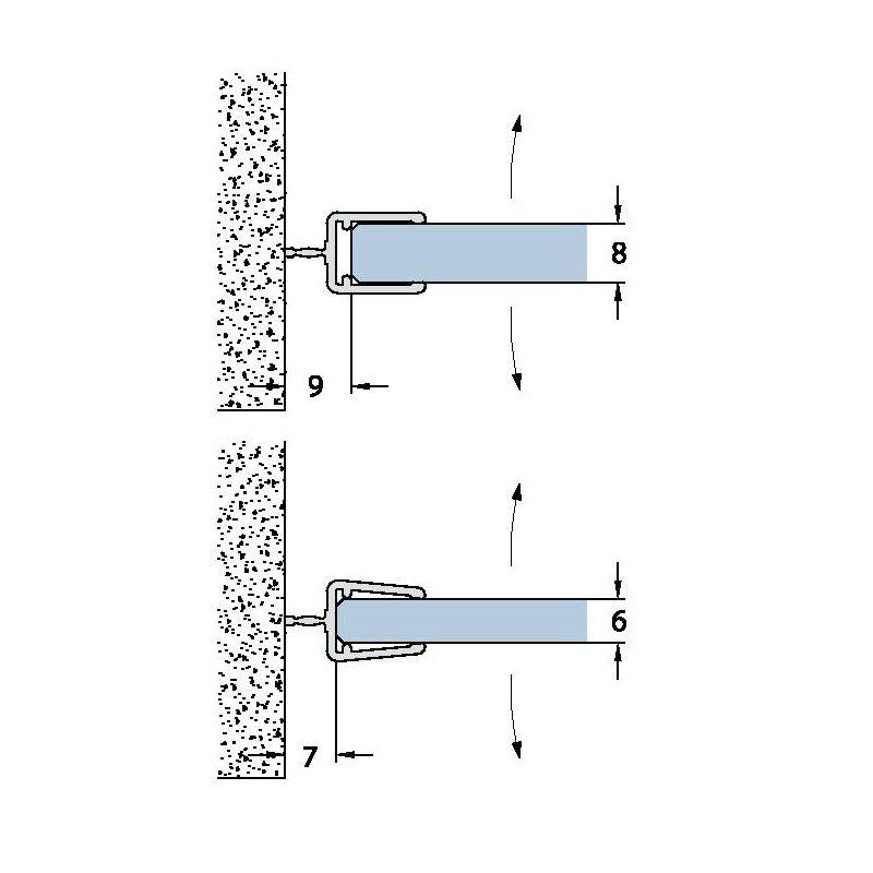 joint d 39 tanch it l vre centrale longueur 2010 mm ep verre 6 8 mm. Black Bedroom Furniture Sets. Home Design Ideas
