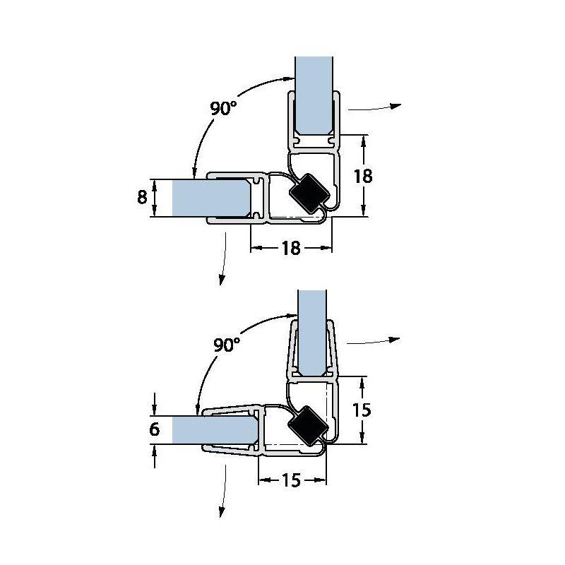 Joint d\'étanchéité magnétique - 201 cm