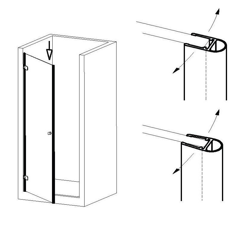 Joint d\'étanchéité porte/mur à 90° - 201 cm