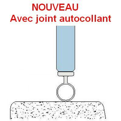 Joint de seuil à bourrelet autocollant - longueur 2500 mm - Ep. verre 8 - 10 -12 mm