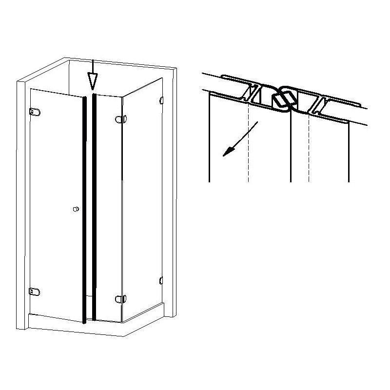 Joint magnétique 180° - 201 cm
