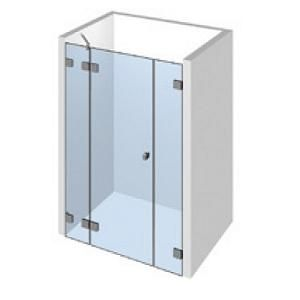 Kit 1 porte de douche sur paroi fixe droite/gauche