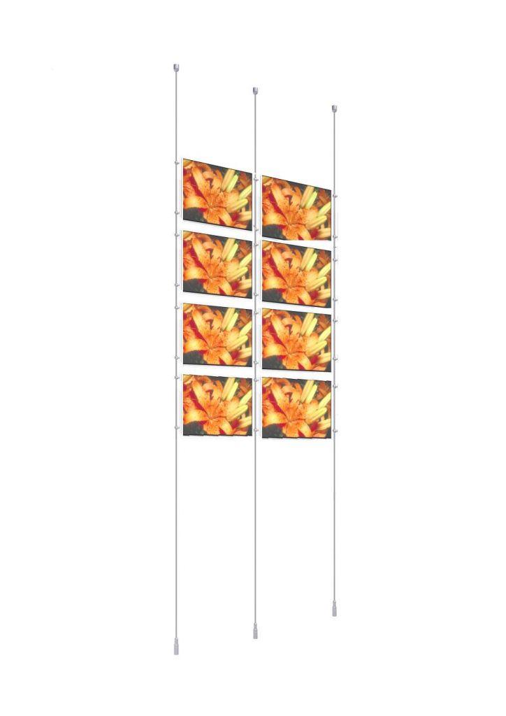 Kit double porte-affiche A4 paysage