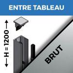 KIT GARDE-CORPS BALCON A LA FRANçAISE - Hauteur 1200 mm - Aluminium BRUT - Verre hors fourniture