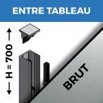 KIT GARDE-CORPS BALCON A LA FRANçAISE - Hauteur 700 mm - Aluminium BRUT - Verre hors fourniture