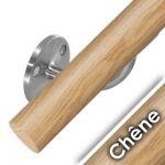 Kit main courante bois - chêne brut - interieur