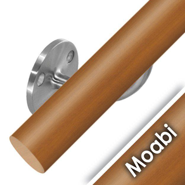Kit main courante bois - moabi - intérieur