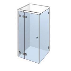 Kit porte de douche d 39 angle sur paroi fixe gauche - Porte de douche avec paroi fixe ...