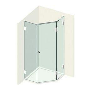 Kit porte de douche pentagonale