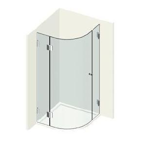 Kit porte de douche ronde