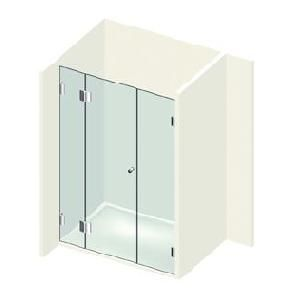 kit porte de douche sur paroi fixe droite gauche. Black Bedroom Furniture Sets. Home Design Ideas