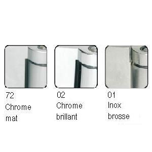 Kit porte de douche sur paroi fixe droite/gauche