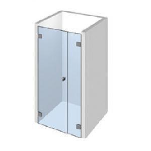 Kit porte de douche sur paroi fixe droite