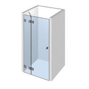 Kit porte de douche sur paroi fixe gauche