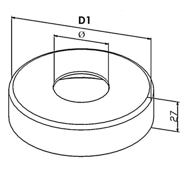 Kit poteau de balustrade modèle 23 poli miroir - H 970 mm