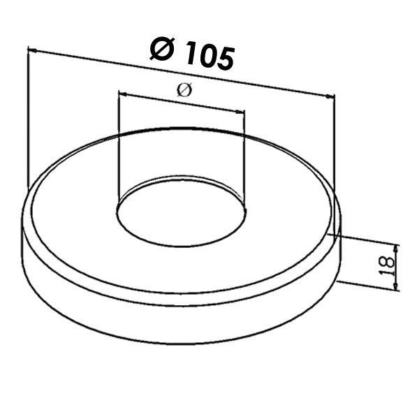 Kit poteau de balustrade modèle 24 - H 970 mm + cache embase