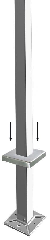 Kit poteau de balustrade modèle 28 - H 1200 mm