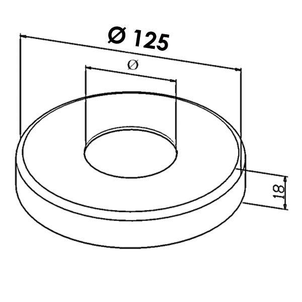 Kit poteau de balustrade modèle 35 - H 1300 mm