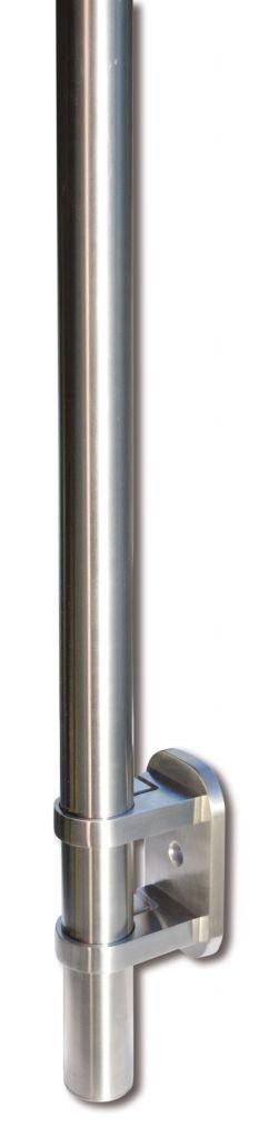 Kit poteau de balustrade modèle 84 poli miroir - H 1200 mm