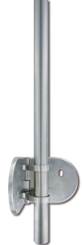 Kit poteau de balustrade modèle 85 poli miroir - H 1200 mm