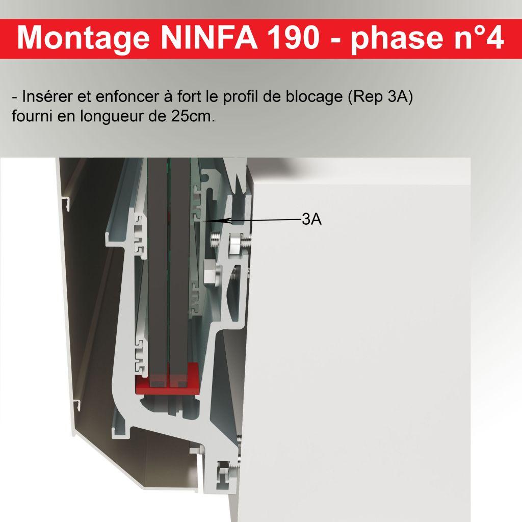 Kit profil NINFA 190 - lieu public (ERP)