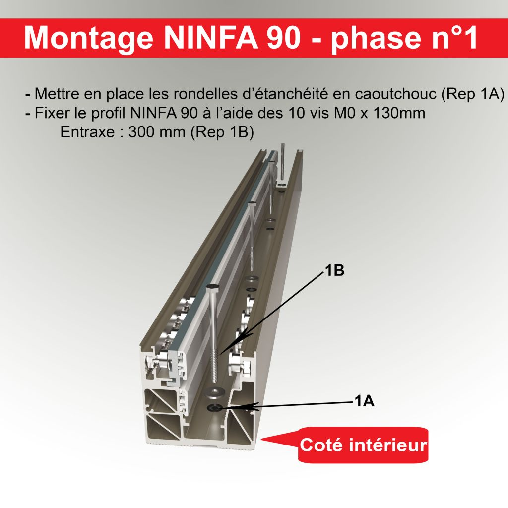 Kit Profil NINFA 90 - pose enterrée