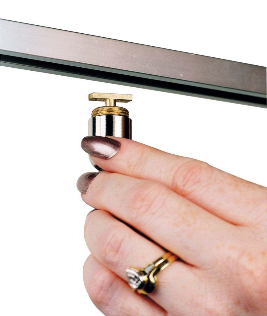 Kit tige Ø3 mm fixation sol/plafond sur rail