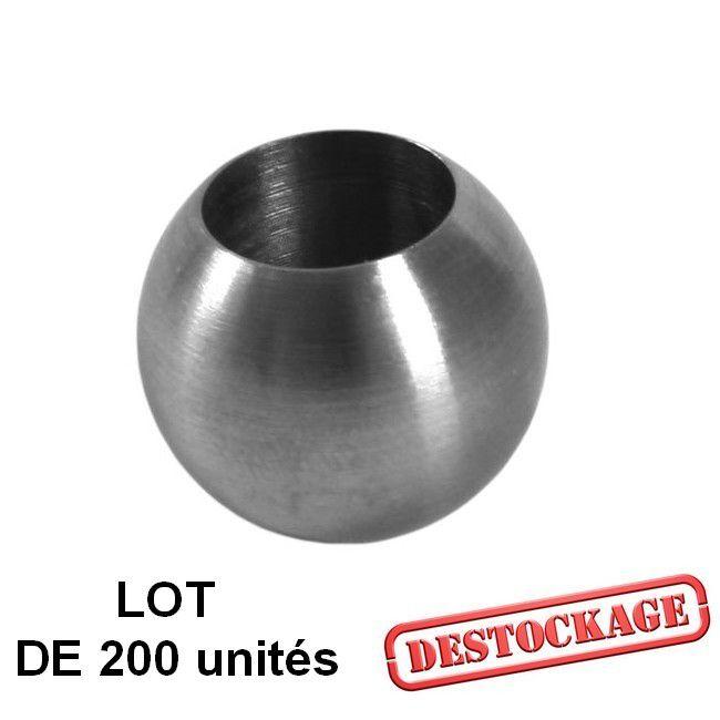 LOT DE 200 BOUTONS D\'ORNEMENT Ø 20 mm POUR BARRE Ø 12 mm - INOX 304