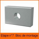 LOT DE 8 BLOCS DE MONTAGE - PROFIL TL30
